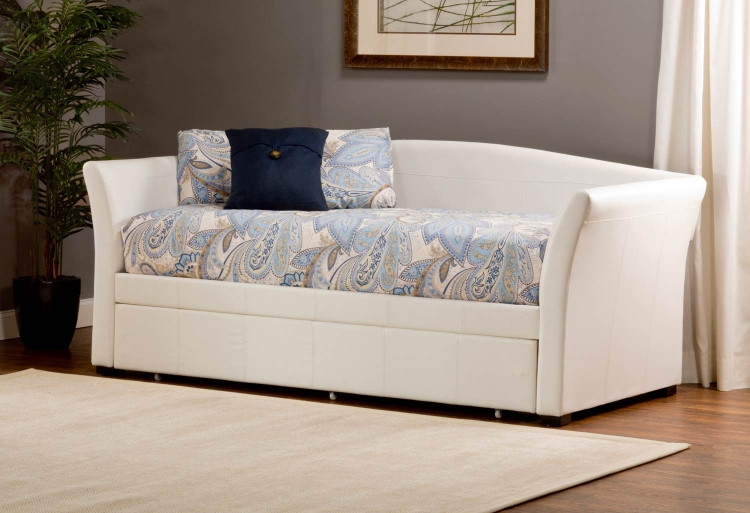 Montgomery Daybed with Trundle - White PU