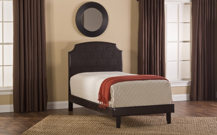 Lawler Bed - Brown Faux Leather