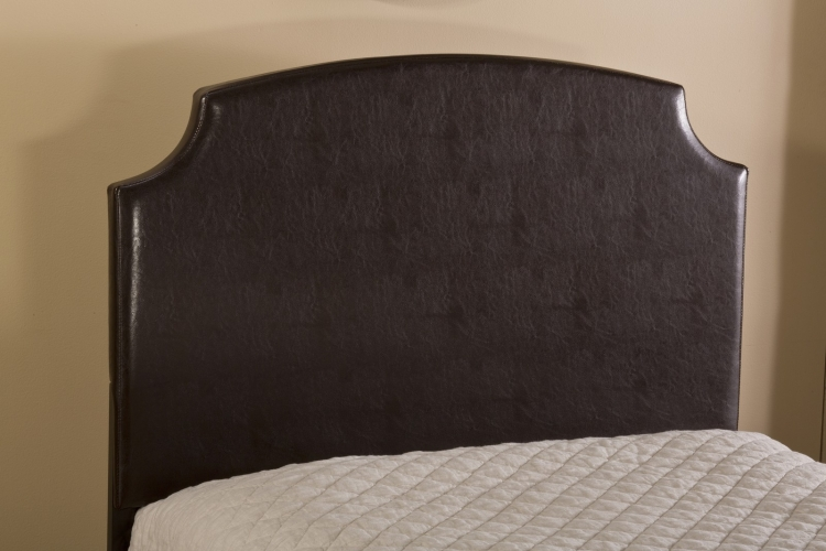 Lawler Headboard - Brown Faux Leather