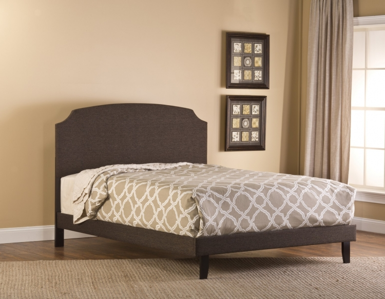 Lawler Bed - Black/Brown Fabric