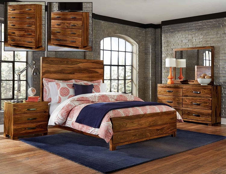 Madera Platform Bedroom Set - Natural