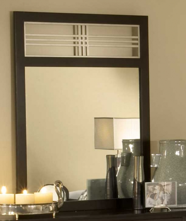 Tiburon Wood & Metal Mirror
