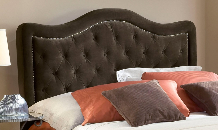 Trieste Tufted Upholstered Headboard - Chocolate