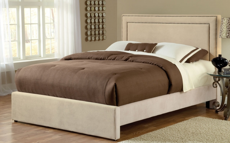 Amber Fabric Bed - Buckwheat