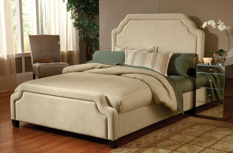 Carlyle Fabric Bed - Buckwheat