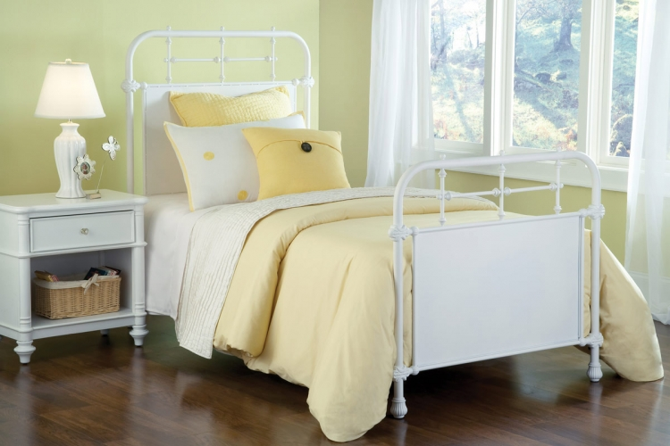 Kensington Bed - Textured White
