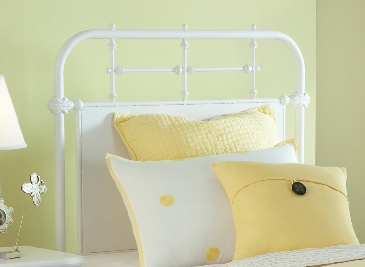 Kensington Youth Headboard - Textured White