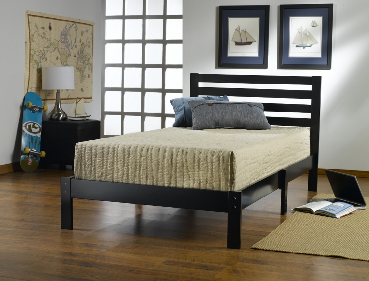 Aiden Twin Bed - Black