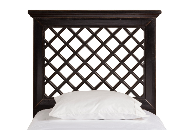 Kuri Headboard - Rubbed Black