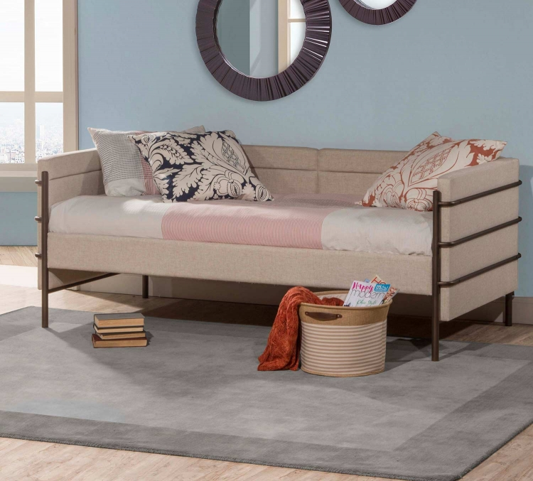 Comfy Daybed - Brown - Natural Linen Fabric