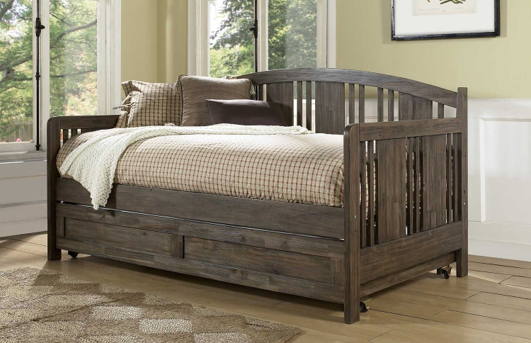 Dana Daybed with Trundle - Brushed Acacia