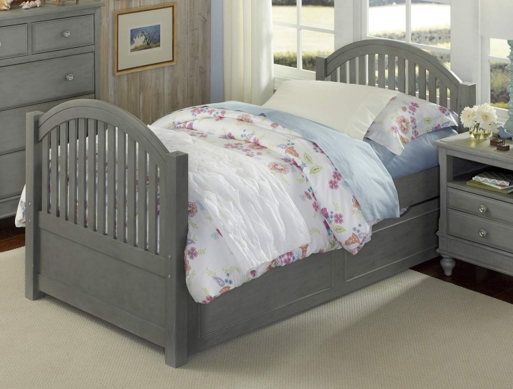 Lake House Adrian Twin Bed With Trundle - Stone