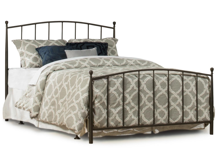 Warwick Metal Bed with Frame - Gray Bronze