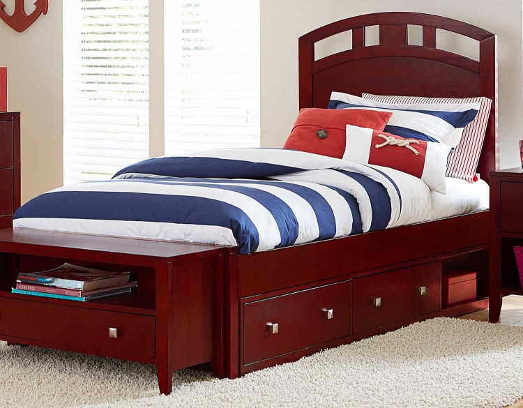 Pulse Arch Bed With Storage - Cherry