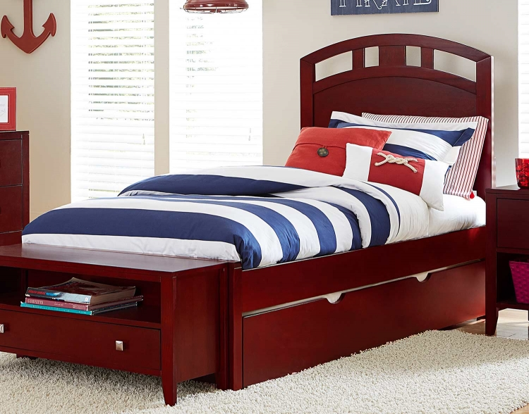Pulse Arch Bed With Trundle - Cherry