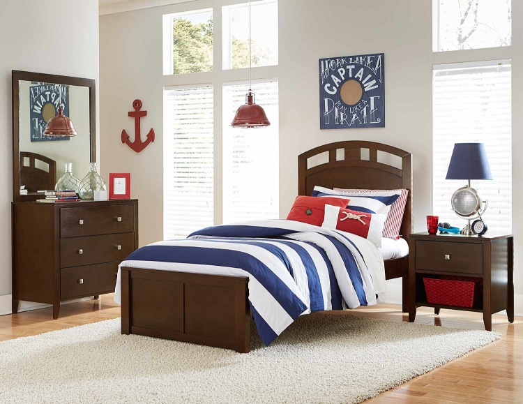 Pulse Arch Bedroom Set - Chocolate