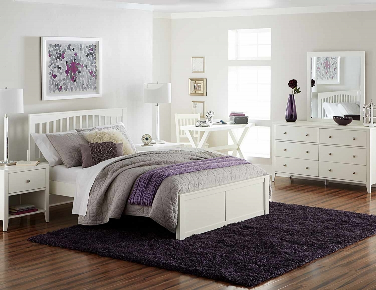 Pulse Mission Bedroom Set - White