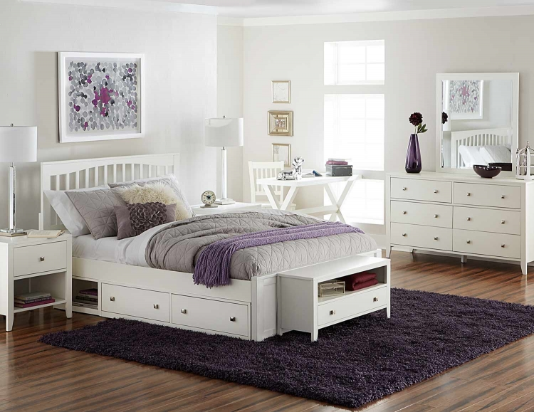 Pulse Mission Bedroom Set With Storage - White
