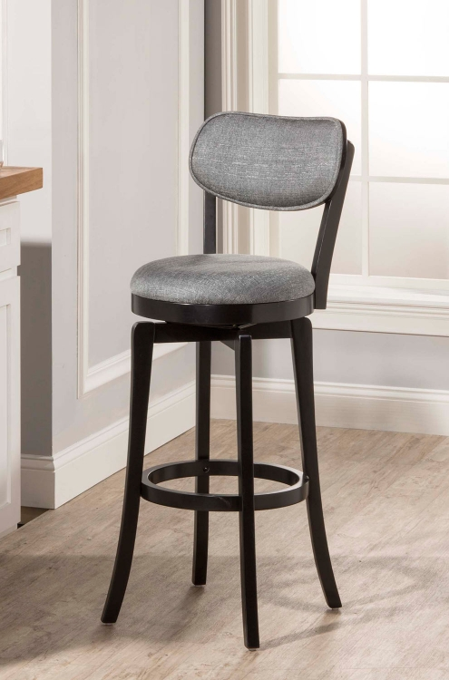 Sloan Swivel Counter Stool - Black