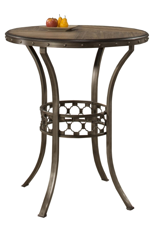Lannis Bar Height Bistro Table - Brown/Grey