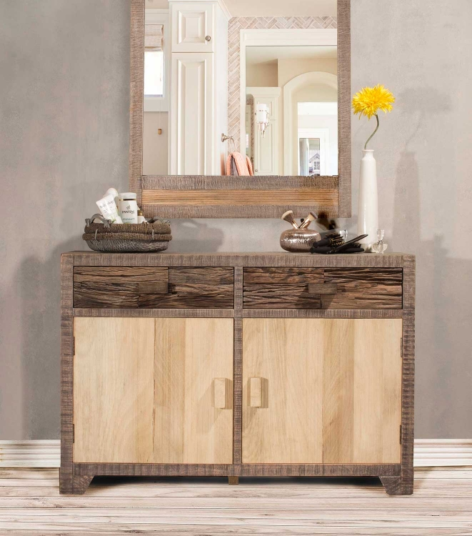 Bolero Door Accent Cabinet - Sand Brushed Earth Tone