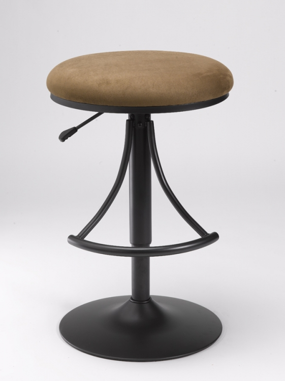 Venus Backless Swivel Bar Stool with Bear Suede