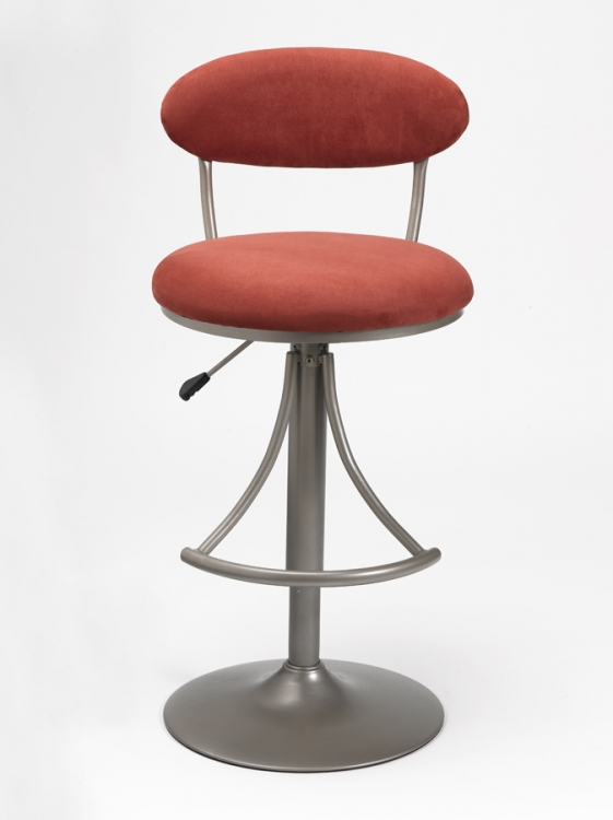 Venus Metal Swivel Bar Stool with Flame Suede
