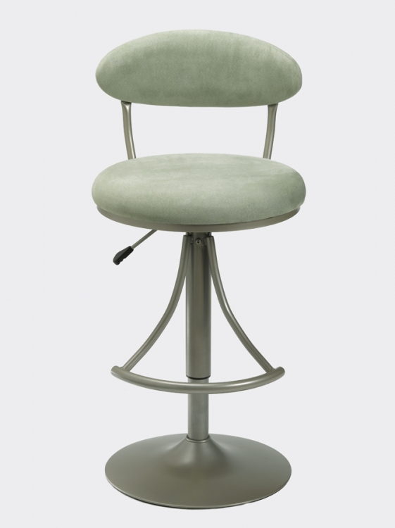Venus Metal Swivel Bar Stool with Atmosphere Suede