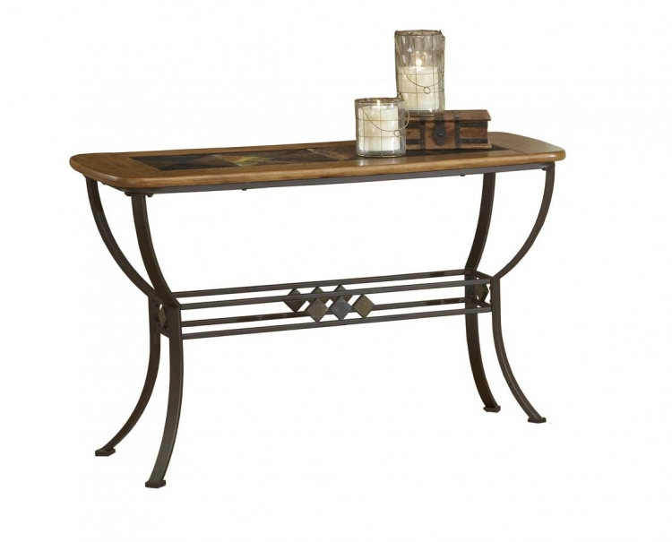 Lakeview Sofa Table with Wood and Slate Top