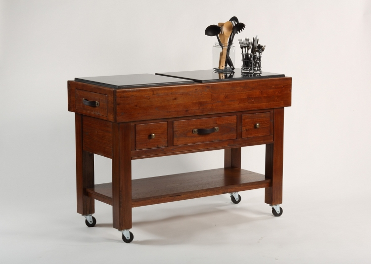 Outback Kitchen Island - Distressed Chestnut