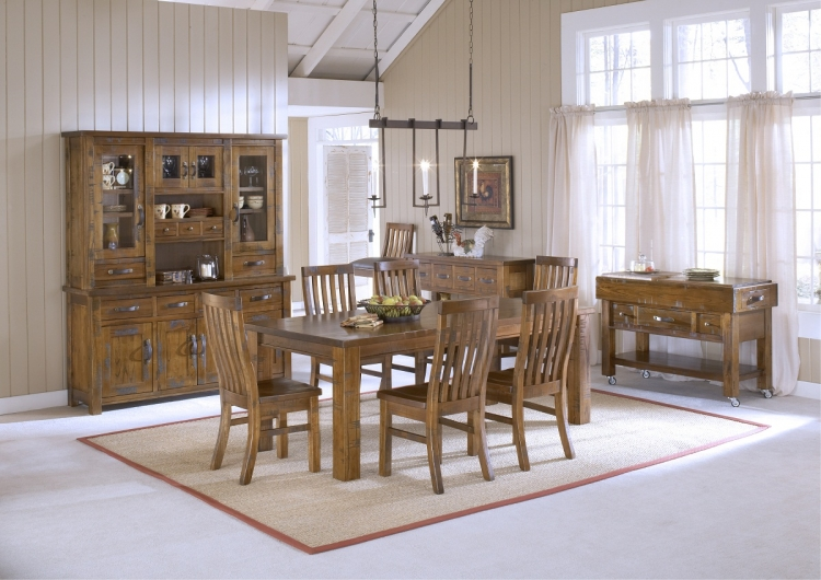 Outback 7-Piece Dining Set - Distressed Chestnut