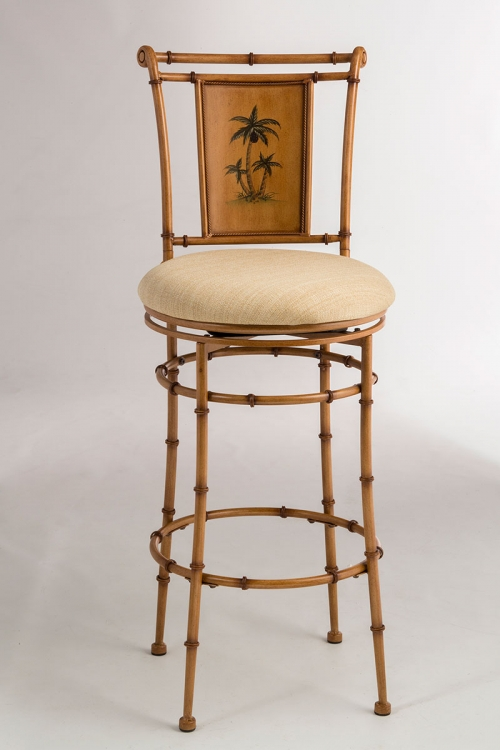 West Palm Metal Swivel Counter Stool