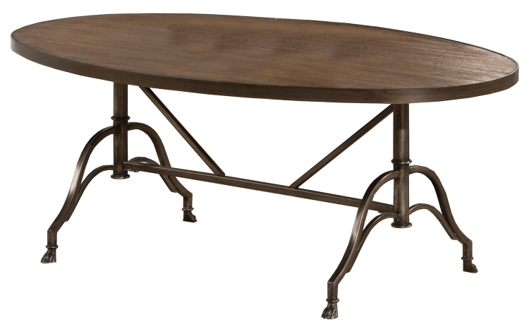 Clairview Oval Coffee Table - Brown/Gray