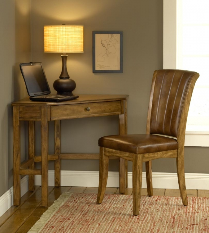 Solano Corner Desk Set - Oak