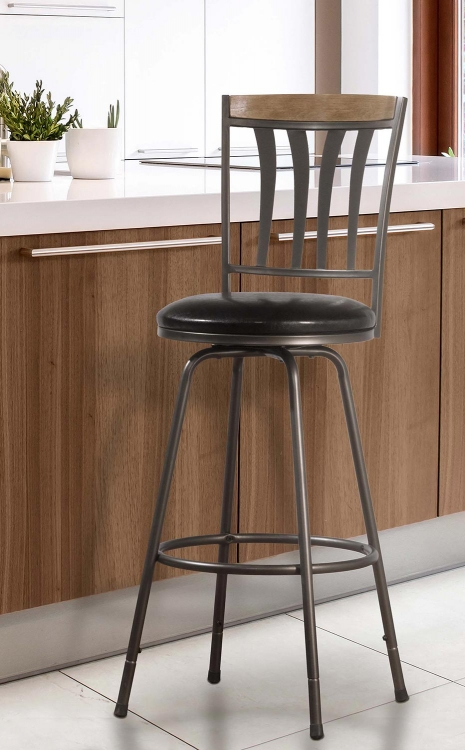 Darlington 3-Set Adjustable Swivel Counter/Bar Stool - Tan/Brown