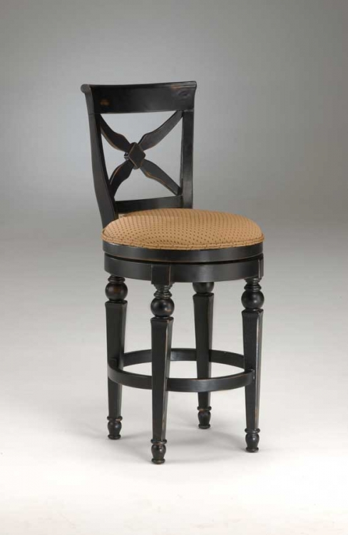Northern Heights Swivel Wood Bar Stool