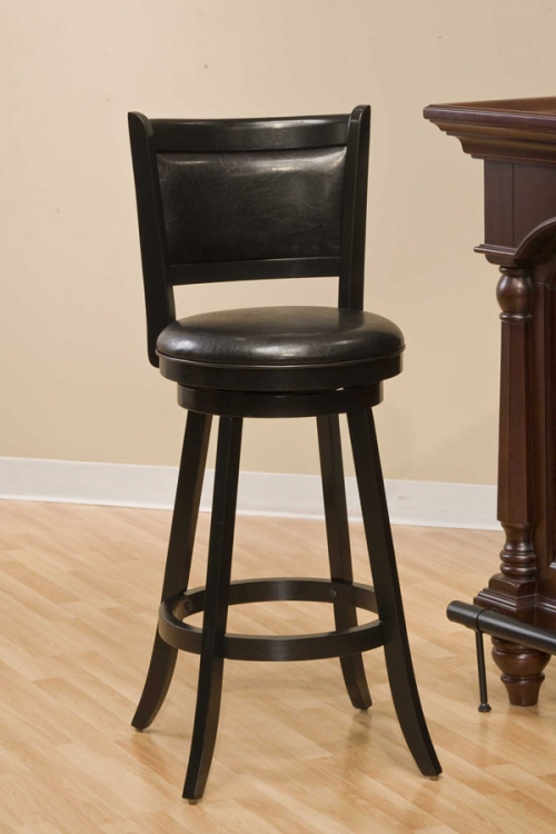 Dennery Swivel Bar Stool - Black