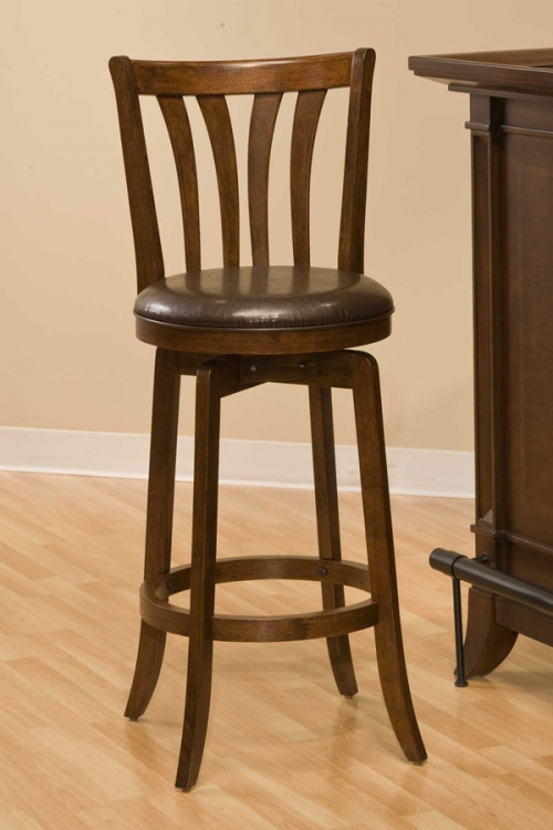 Savana Swivel Bar Stool - Cherry