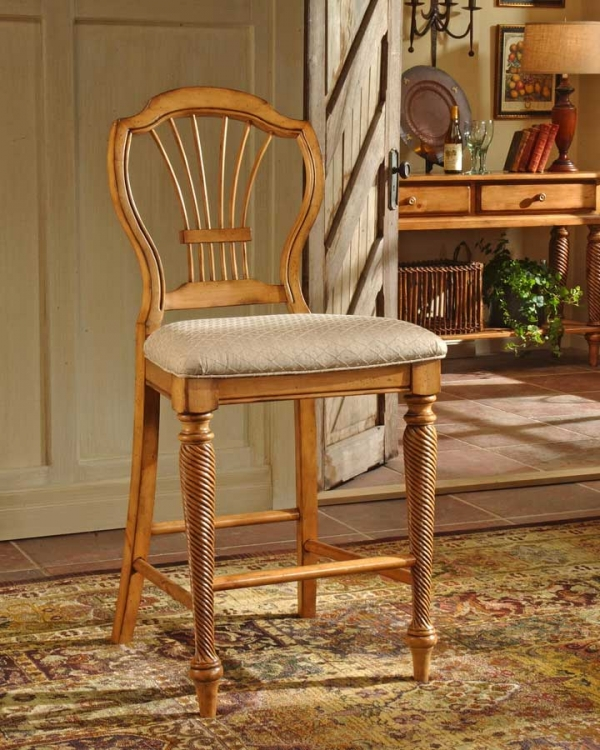 Wilshire Non-swivel Counter Stool - Antique Pine