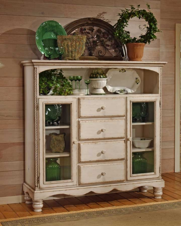 Wilshire Four Drawer Bakers Cabinet - Antique White