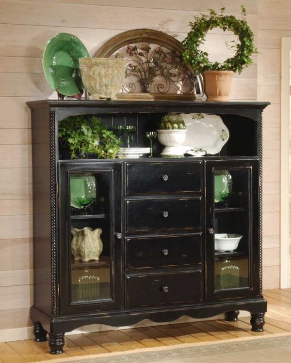 Wilshire Four Drawer Bakers Cabinet - Rubbed Black