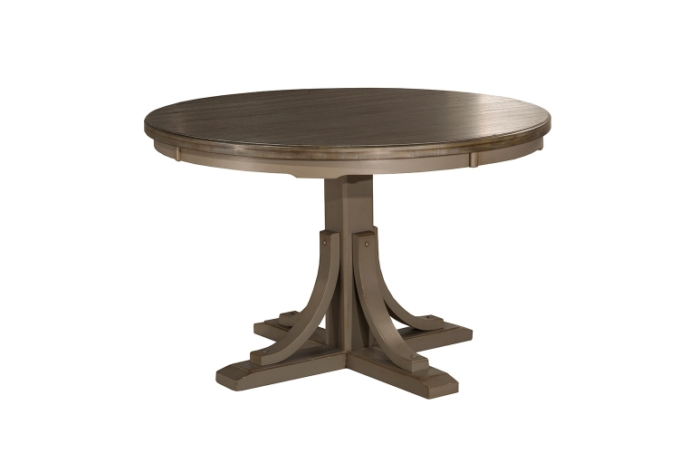 Clarion Round Dining Table - Gray Wirebrush