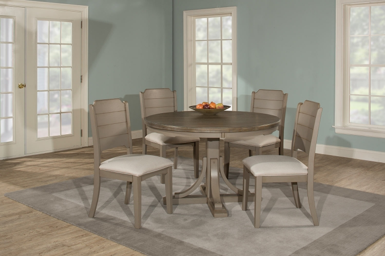 Clarion Round Dining Set - Gray