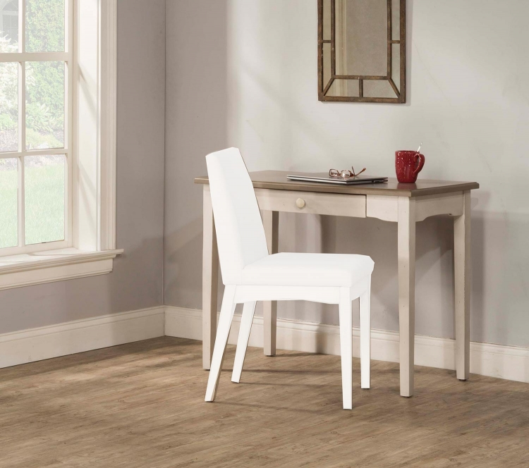 Clarion Desk/Table - Gray/White