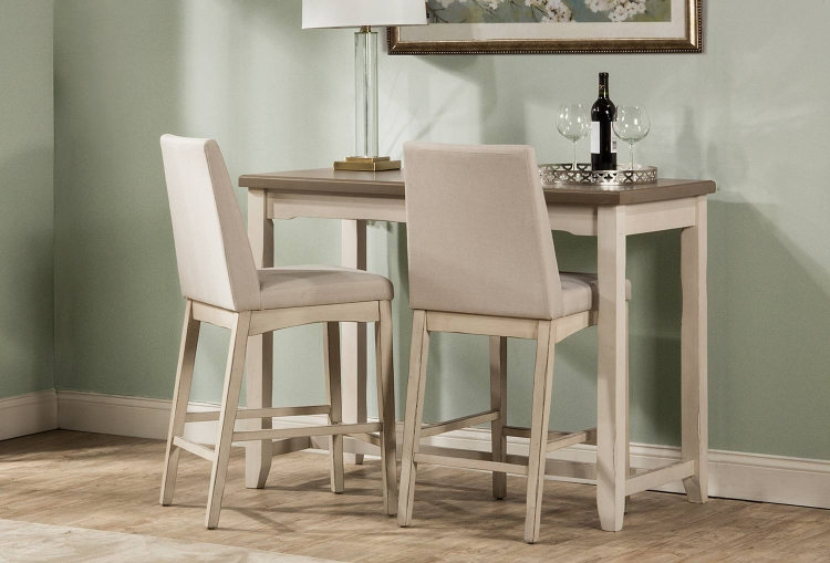 Clarion 3-Piece Counter Height Dining Set - Gray/White