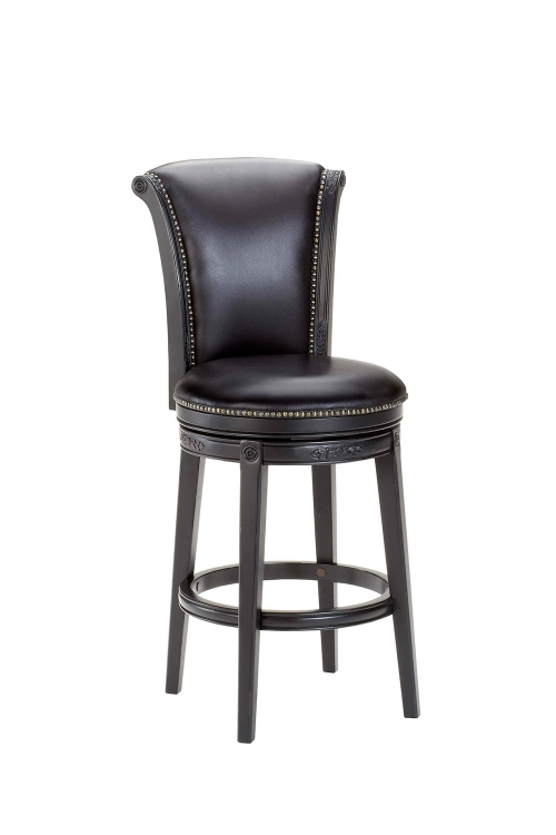 Russell Swivel Bar Stool - Black