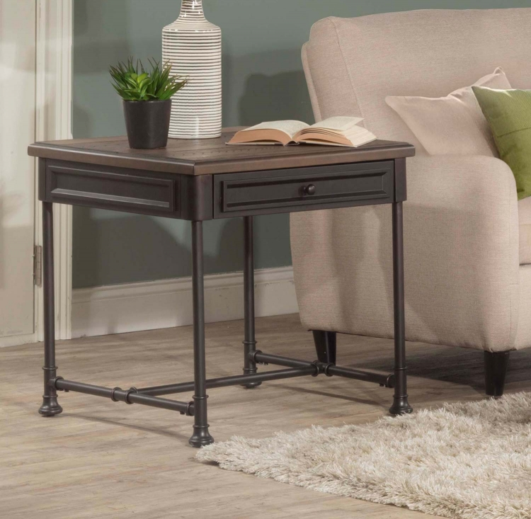 Casselberry End Table - Walnut/Brown