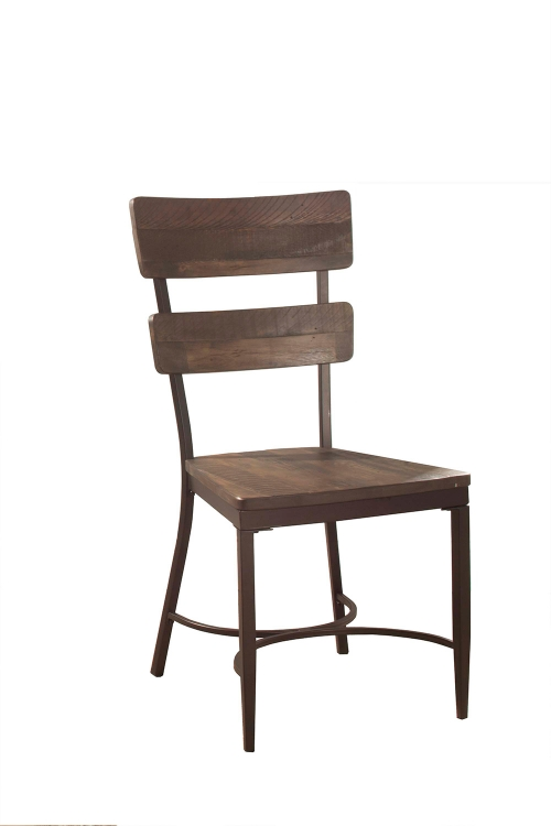 Casselberry Desk Chair - Walnut/Brown Metal