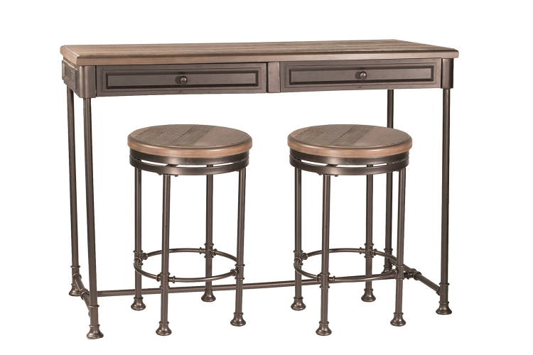 Casselberry 3-Piece Counter Height Set - Walnut/Brown