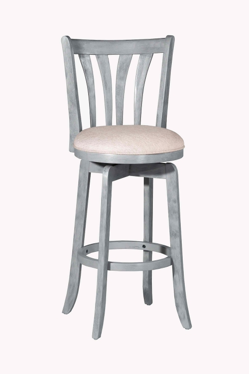 Savana Swivel Bar Stool - Blue Wirebrush - Cream Fabric